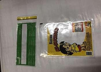 Envelope plástico com lacre personalizado